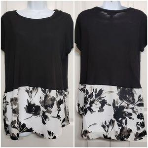 Simply Vera women's short sleeve peplum blouse